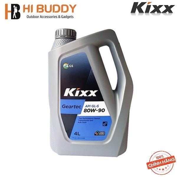 Dầu nhớt cho hộp số và cầu xe, Hiệu năng cao cấp Kixx GEARTEC GL-5 80W/90 4L