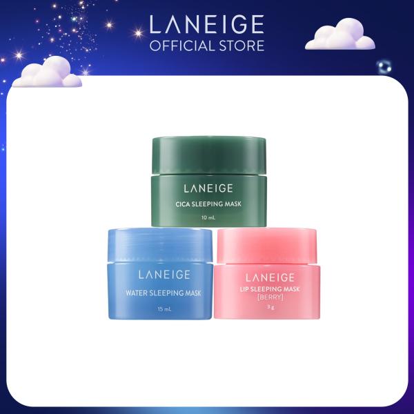[Hàng tặng không bán] Bộ mặt nạ dưỡng da Laneige Goodnight kit 3 món