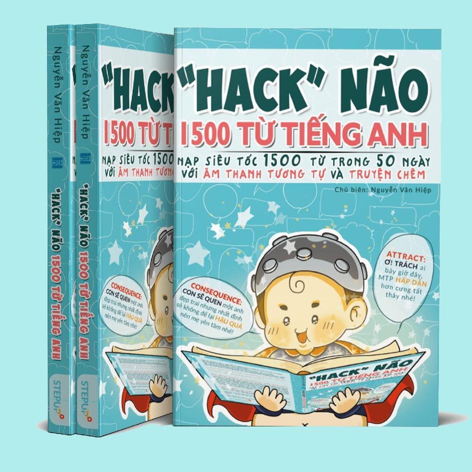 Mua [ BẢN CHUẨN ĐẸP RÕ NÉT ] - Hack Não 1500 Từ Tiếng Anh  2018 - Tặng kèm file PDF màu kèm  link audio nghe ( bìa màu, bên trong đen trắng )