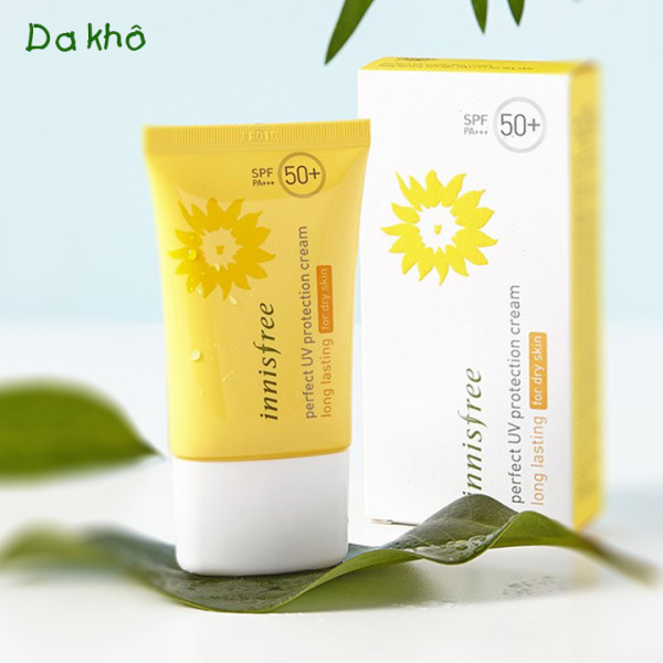 Kem Chống Nắng Innisfrree Perfect UV Protection Cream Long Lasting For Dry Skin SPF50 PA+++ 50ml