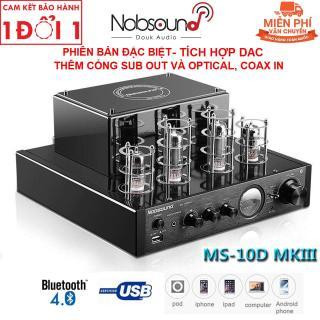 Amply đèn Nobsound MS10D - MKIII tích hợp giải mã DAC, kết nối Bluetooth và cổng USB - Thêm cổng Sub out và Optical In - Có tem chống hàng giả thumbnail