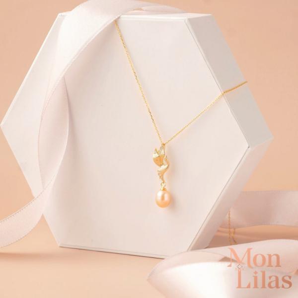 Dây chuyền bạc nữ đẹp, dây chuyền bạc nữ, vòng cổ bạc nữ thiết kế Necklace D0320007 - Trang sức Mon Lilas