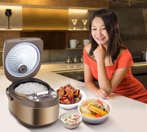 (HÀNG CHÍNH HÃNG)nồi cơm giữ nhiệt của nhật,Nồi cơm Điện comet chống dính,NỒI CƠM ĐIỆN TỬ NẮP GÀI 3D COMET CM8087 (1.8 LÍT),Đa chức năng có thể dùng để nấu cơm, cháo, Soup, canh.