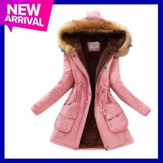 Áo khoác mùa đông nữ kaki lót lông siêu ấm thumbnail