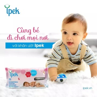 Khăn ướt cho trẻ em Ipek Thổ Nhĩ Kỳ 72 miếng thumbnail