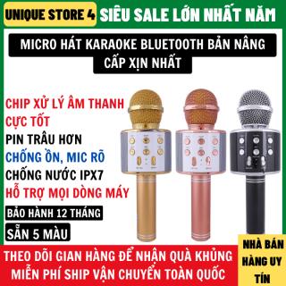 Micro karaoke bluetooth bản Pro nâng cấp chip xử lý âm thanh cực hay pin trâu hơn chống ồn hỗ trợ mọi dòng máy, micro karaoke, micro không dây, mic karaoke không dây thumbnail