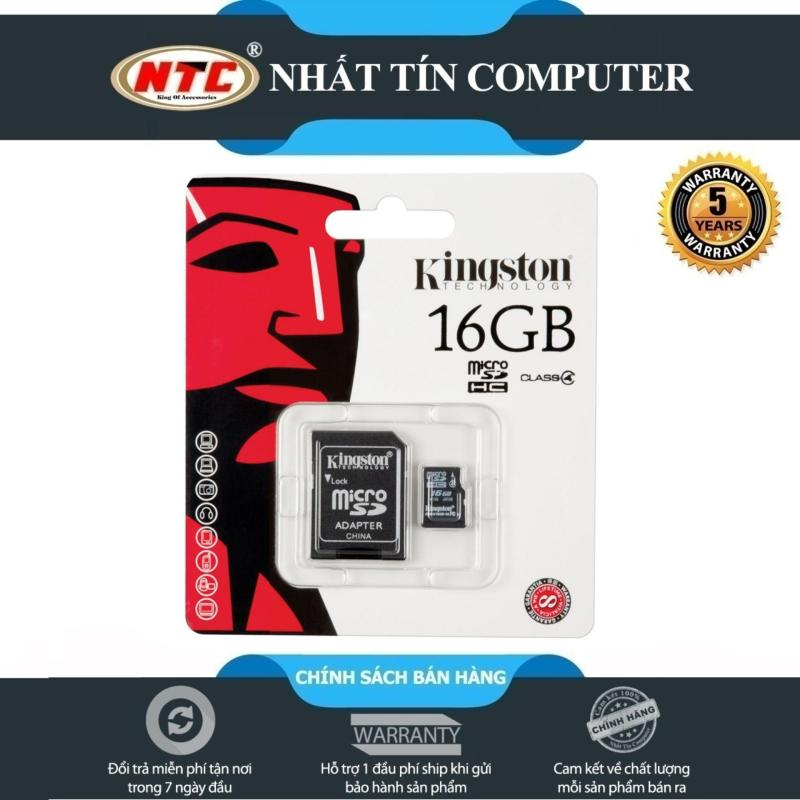 Thẻ nhớ MicroSDHC Kingston 16GB Class 10 U1 80MB/s Kèm Adapter