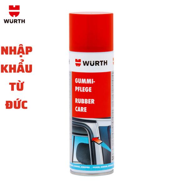 Chai xịt bảo dưỡng cao su ô tô Wurth Rubber Care - Nhập khẩu Đức