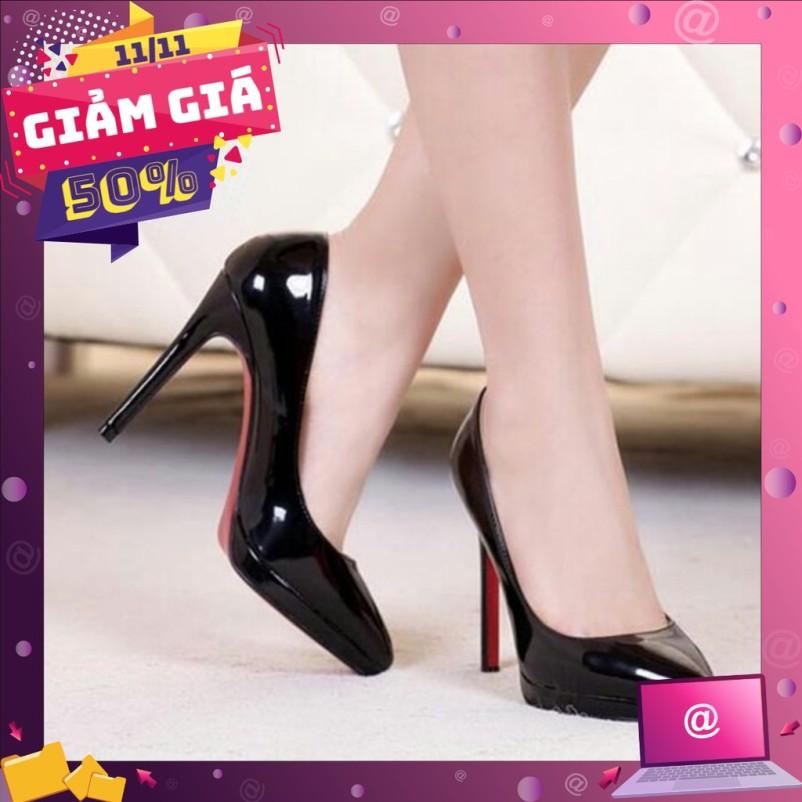 Giày búp bê cao gót bóng 9p XK-0007 giá rẻ