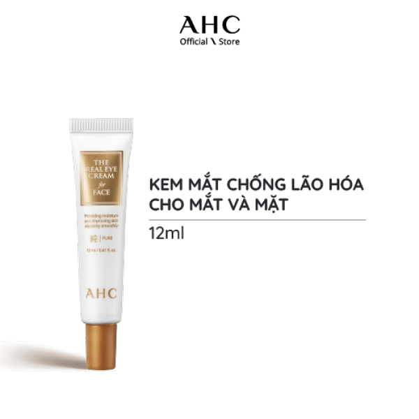Kem Dưỡng Mắt và Mặt 2in1 AHC The Real Eye Cream For Face Pure (12ml)