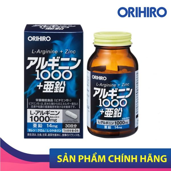Viên Uống L-Arginine 1000mg và Zin C Orihiro 120 Viên Tăng Cường Sinh Lý Nam Giới cao cấp