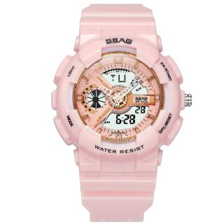 Đồng hồ - đồng hồ thẻ thao nữ - Đồng Hồ Nữ SBAO JAPAN S-8022HONG Sports - 2 Máy Kim và Điện Tử Mạnh Mẽ Dây Silicone Bền Chắc thumbnail