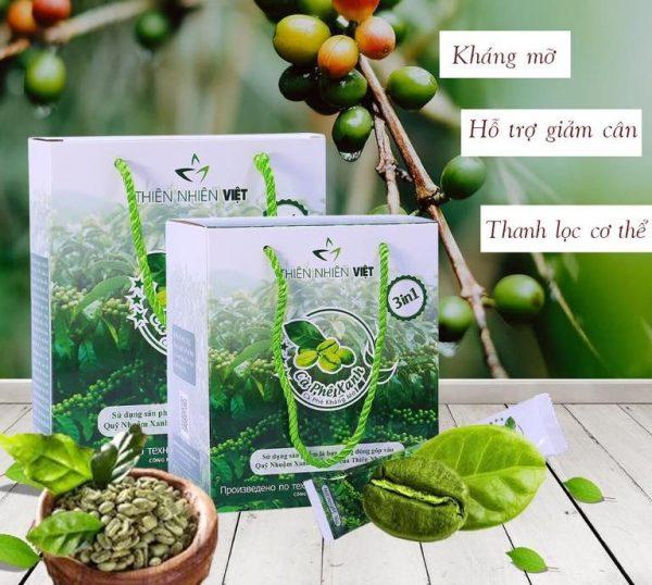 Cà phê xanh kháng mỡ Thiên Nhiên Việt hộp 10 gói [Chính hãng]