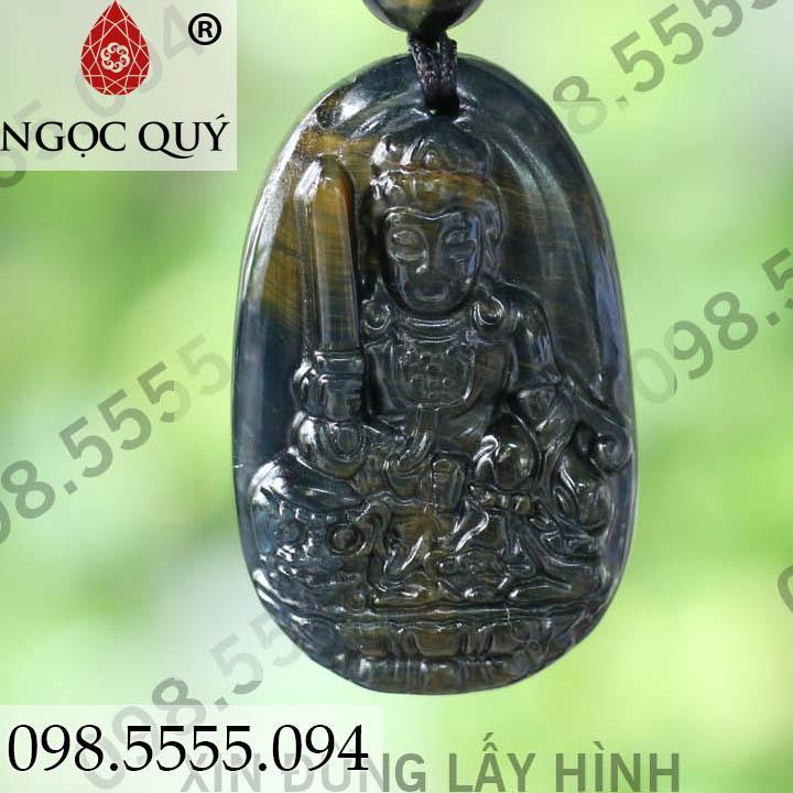 Phật bản mệnh văn thù bồ tát mắt hổ 3.5 x 2.3 cm