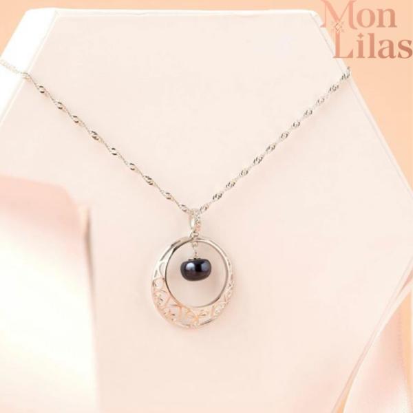 Dây chuyền bạc nữ, vòng cổ bạc nữ đẹp Necklace D0320003 - Trang Sức Mon Lilas