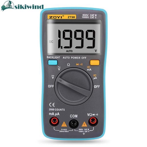 Đồng hồ vạn năng ZOYI thiết kế đèn nền kỹ thuật số, hiển thị độ chính xác cao, dùng để đếm hoặc đo điện áp - INTL