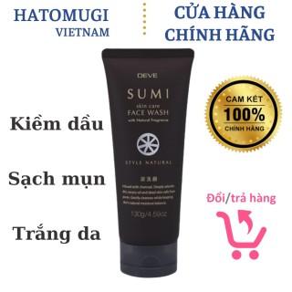 Sữa Rửa Mặt Kiềm Dầu Than Hoạt Tính DEVE Sumi Face Wash Nội Địa Nhật Bản 130g thumbnail