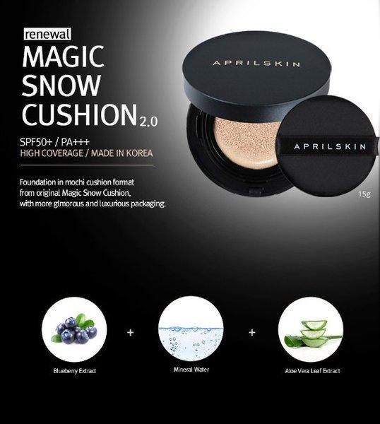 Phấn Nước Ma Thuật Siêu Che Phủ April Skin Magic Snow Cushion nhập khẩu