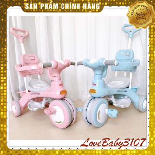 [ ] Xe đẩy cho bé, Xe 3 Bánh Baby Carriage 618 có cần đẩy, Xe đẩy em bé 688, Xe đẩy du lịch cho bé tiện lợi thumbnail
