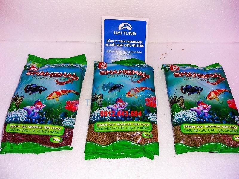 Set 8 gói cám Shanghai cho cá cảnh-100gram/gói