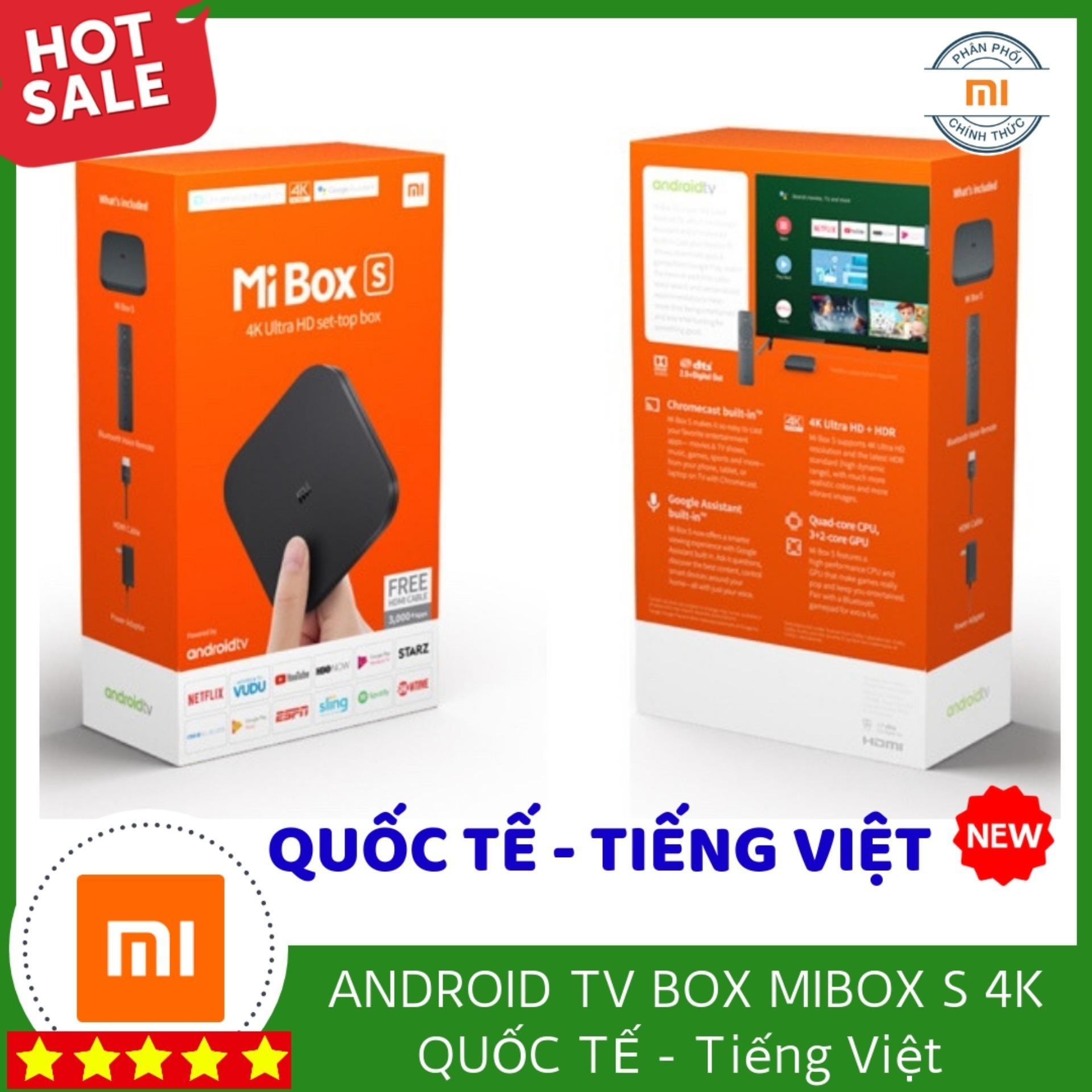Bảng giá Android Tivi Box Xiaomi Mibox 3 4K Global Quốc Tế Tiếng Việt