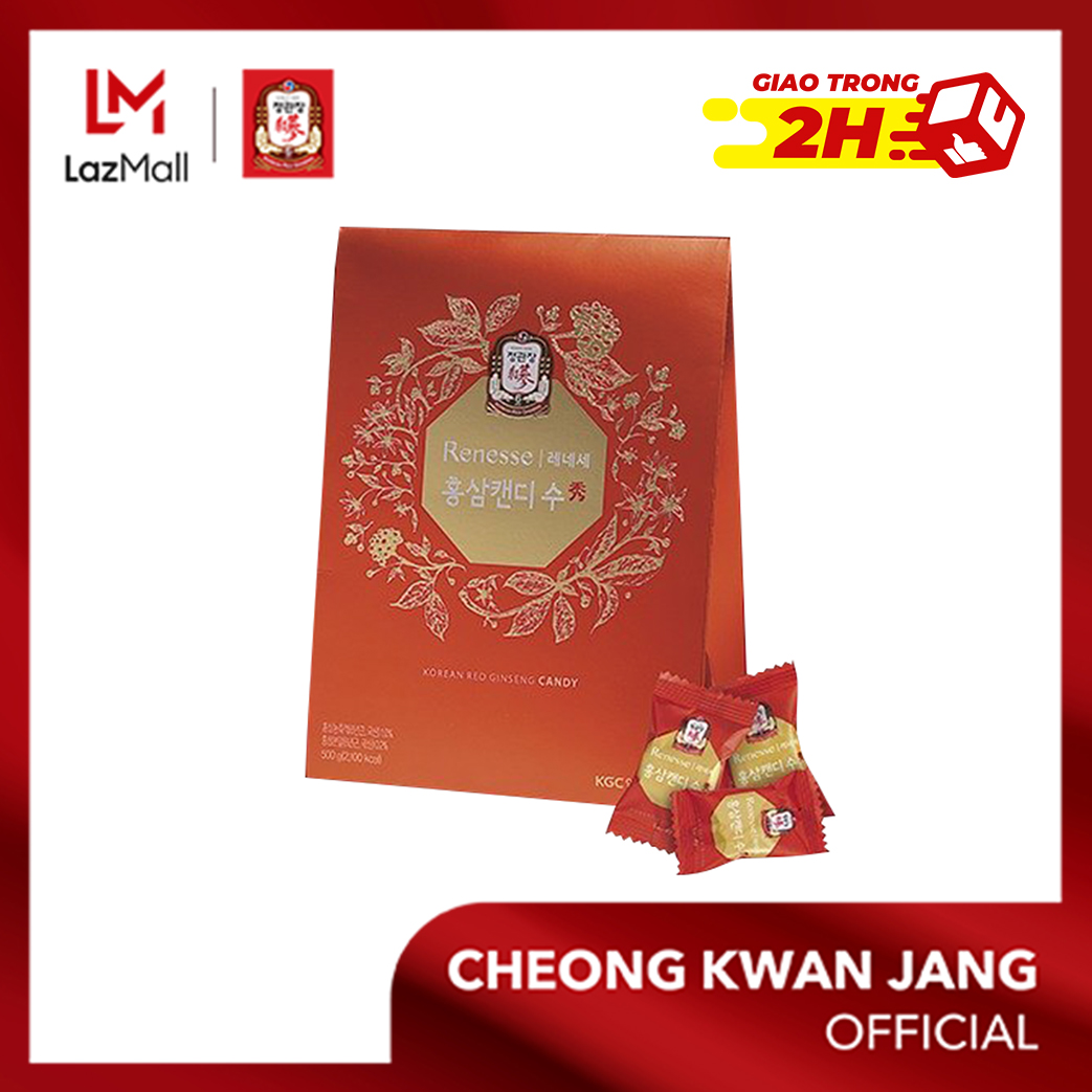 Kẹo hồng sâm KGC Cheong Kwan Jang gói 500g -  Tốt cho sức khoẻ, giúp tinh thần sảng khoái, tăng đề kháng