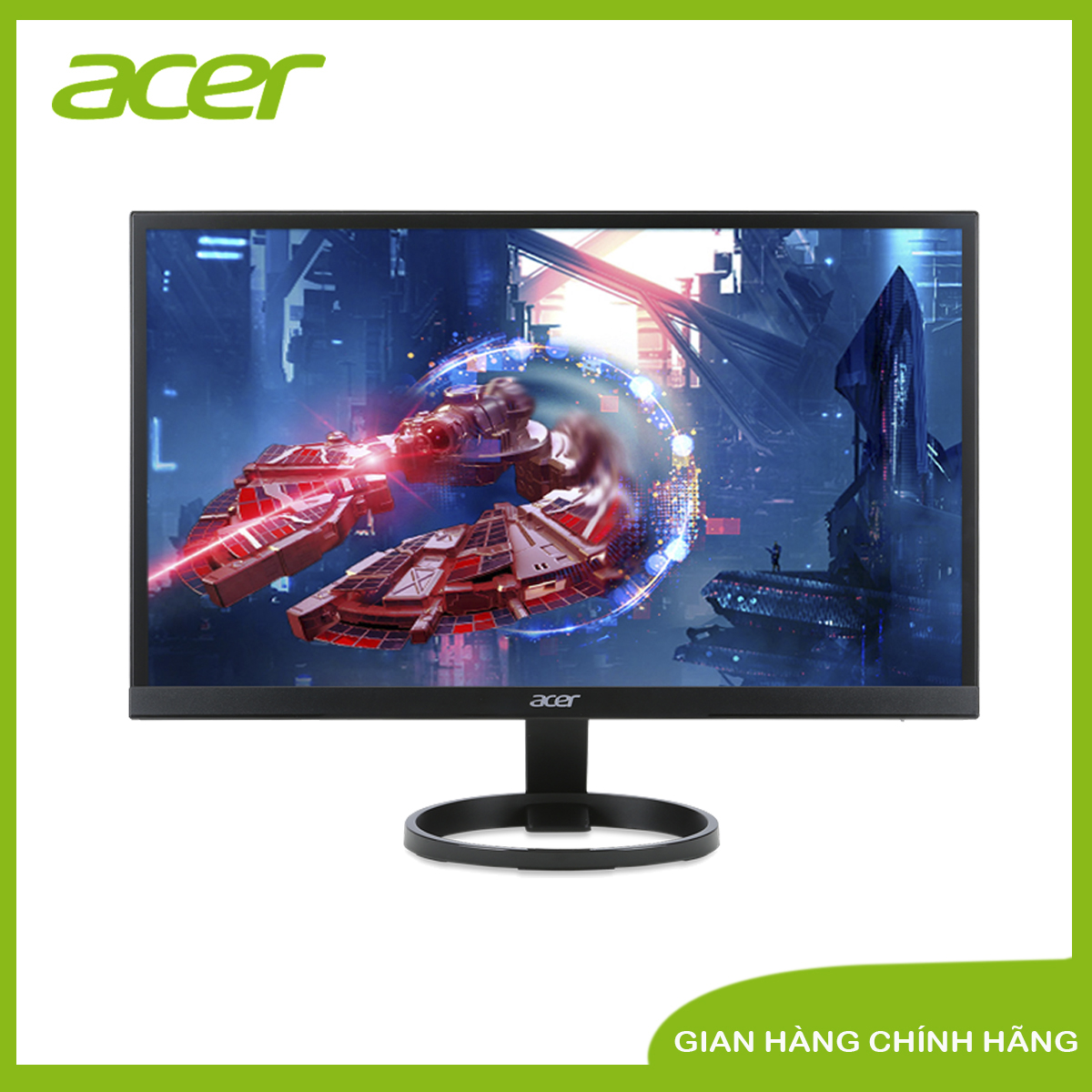 """Màn hình máy tính Acer R241Y 23.8""""FHD, IPS, 75Hz, Freesync, 1ms, 250nits, 178°, 100M:1, 1xV/1xH/Audio out, 3Y WTY-UM.QR1SS.B01"""
