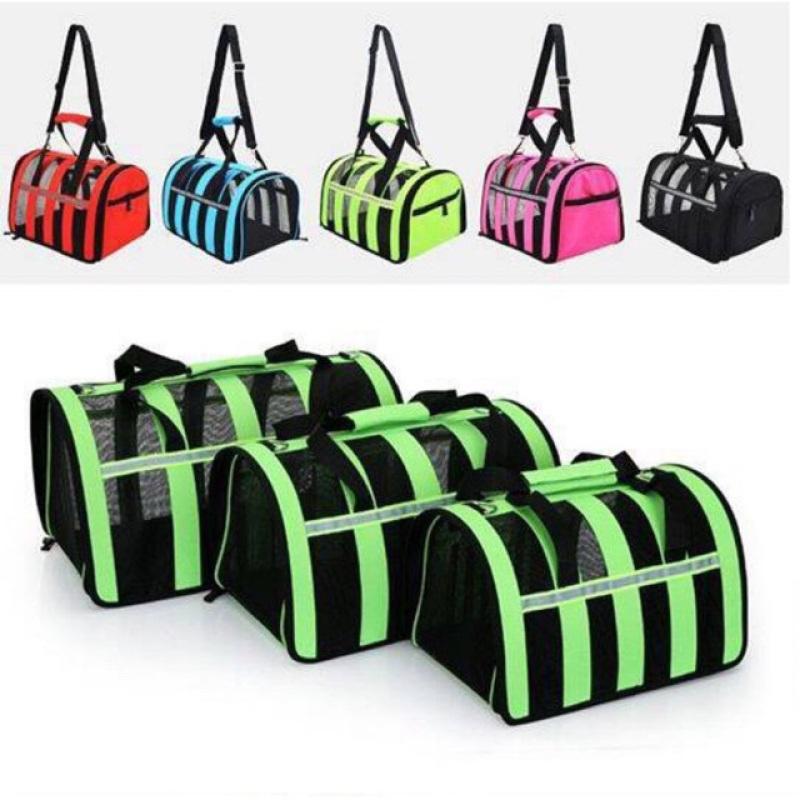 Túi vận chuyển chó mèo cao cấp , khung lưới thoáng , nhiều màu sắc Size L