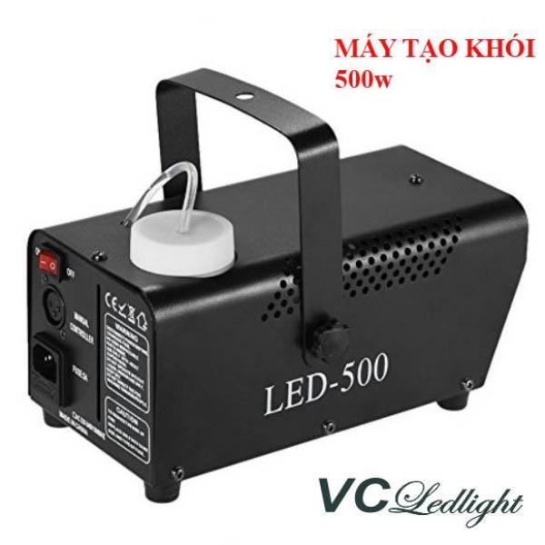 Máy tạo khói, máy phun khói sân khấu 500w, có đèn led màu và điều khiển từ xa