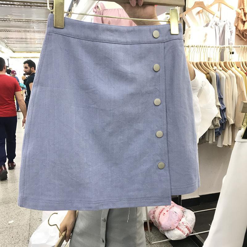 Mặc Nữ 2020 Ngắn Váy Ôm Và Đa Năng Một Từ Cao Câu Ly Eo Không Đều Nửa Váy Da Bò
