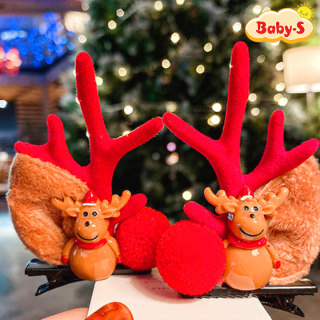 Set 2 kẹp tóc Noel Giáng sinh sừng tuần lộc phối phụ kiện lung linh ngộ nghĩnh phù hợp để hóa trang chụp ảnh Baby-S (2pcs) SNOEL006 thumbnail