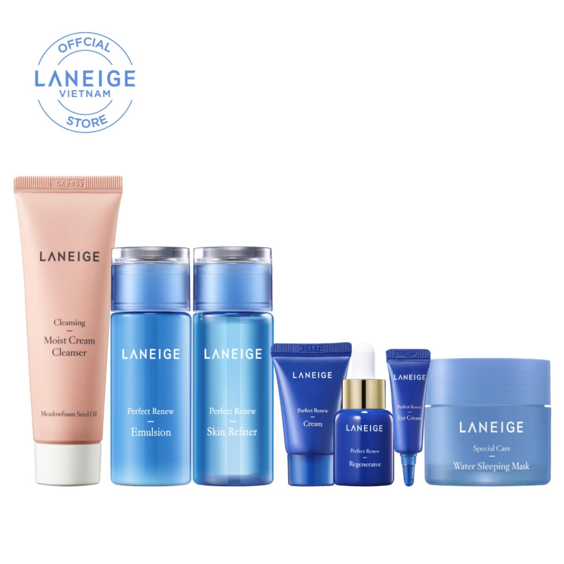 Combo làm sạch và ngăn ngừa lão hóa da Laneige Perfect Renew