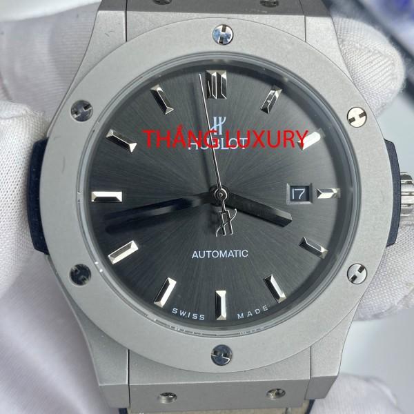 [Máy cơ + BH 12 tháng] Đồng hồ nam HU.BLOT - size 40, trữ cót 80 tiếng, dây cao su thơm bán chạy