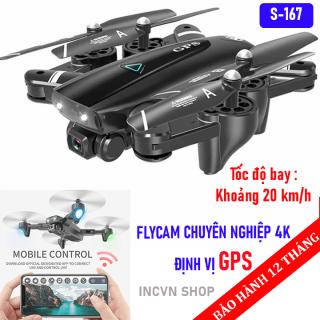 Máy bay quay video điều khiển từ xa S167, Flycam mini 4k quay phim chụp ảnh - Chống rung, Động cơ bền bỉ, Nhiều chế độ thông minh, Tự động quay về khi sắp hết pin - Flycam mini giá rẻ thumbnail