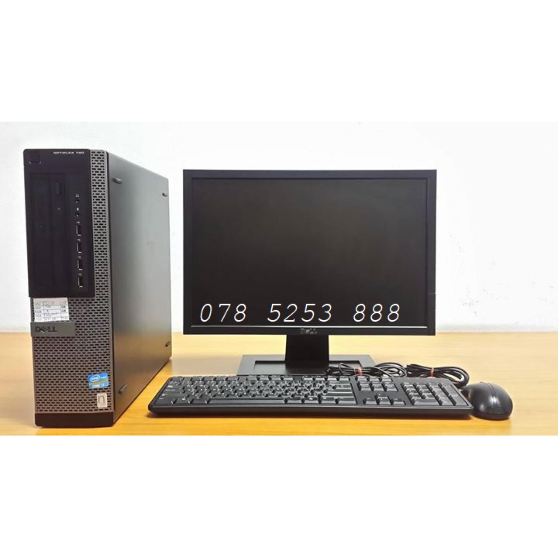 Bộ Máy tính để bàn Dell Optiplex 9010 ( Core i5 3450 /4G/500G ) & Màn hình DELL 18.5 Wide LED + Tặng phím chuột Dell - Hàng Nhập Khẩu BC 9010