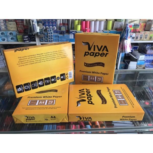 Mua Giấy A4 VIVA Paper định lượng 70gsm,hàng nguyên thùng cực rẻ ,dày mịn đẹp.