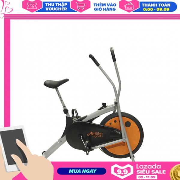 Bảng giá Xe đạp tập thể dục Air Bike MK77 - Bánh đà màu cam