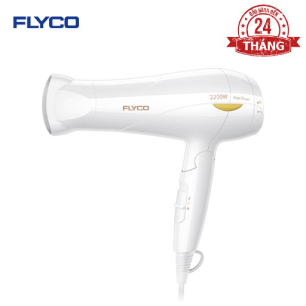 Máy sấy tóc Flyco FH1610VN - Công suất lớn 2200W - Chế độ sấy lạnh bảo vệ tóc - Chống quá nhiệt an toàn - Tay cầm gặp tiện dụng - Hàng chính hãng bảo hành 24 tháng.