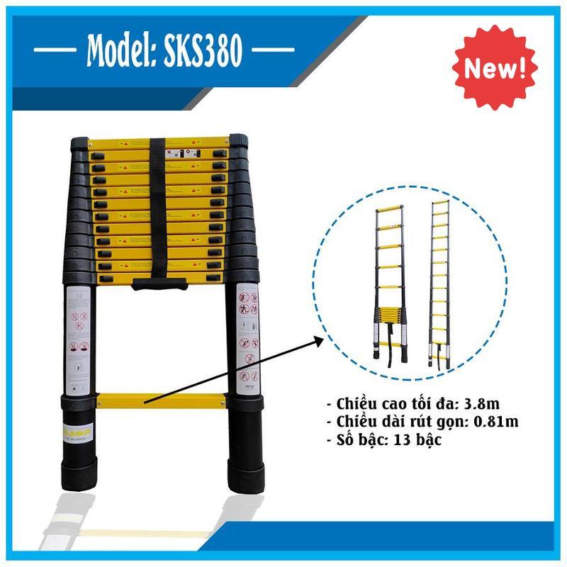 Thang nhôm rút đơn 3,8m Sumika SKS380