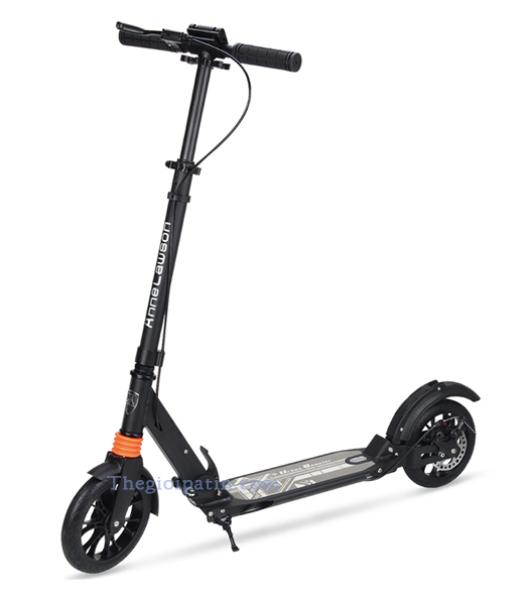 Phân phối Xe Scooter A5D người lớn + có thể tăng chiều cao + lò xo giảm xóc + gập gọn