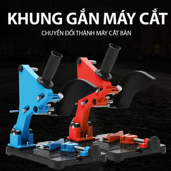 Khung máy cắt gắn máy mài cầm tay tiện lợi an toàn cứng cáp chuyên dụng cho ae chế đồ DIY chuyên nghiệp Thích hợp cho máy mài với kích thước đĩa từ Ø 100 mm đến Ø 150 mm.