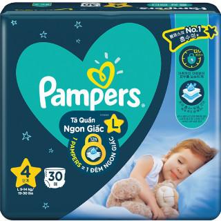 Tã quần Pampers ngủ ngon giấc L30 XL26 XXL22 thumbnail