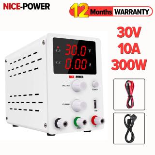 (Ready stock)NICE-POWER 0-30V 0-10A Bộ chuyển mạch DC có thể điều chỉnh cung cấp nguồn điện ổn định có cổng cắm USV dùng để bảo trì điện thoại di động dùng cho phòng thí nghiệm (giảm giá) - INTL thumbnail