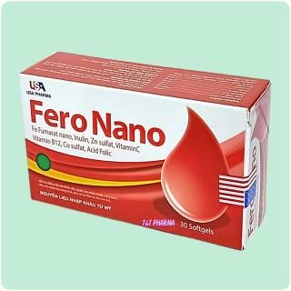 viên uống bổ sung sắt Fero Nano Giúp bổ sung Sắt, Acid Folic cho người thiếu máu não, phụ nữ mang thai và sau sinh hộp 30 viên 2