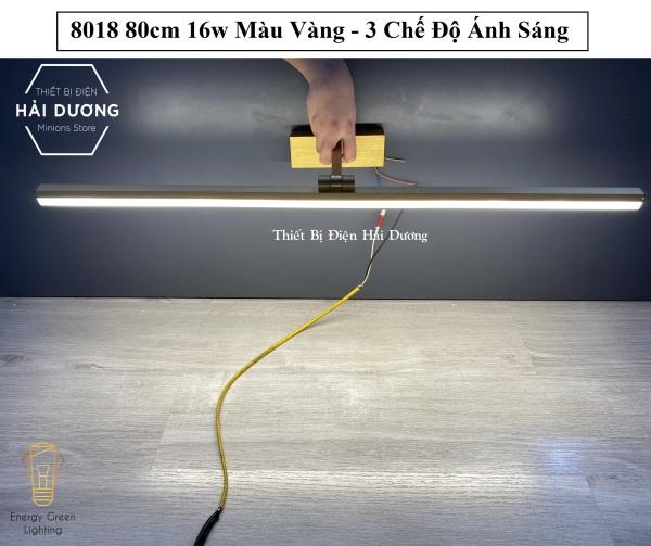 Bảng giá Đèn soi tranh - Đèn rọi gương Led Model 8018 80cm 16w 3 Chế Độ Ánh Sáng - Điều chỉnh được góc chiếu