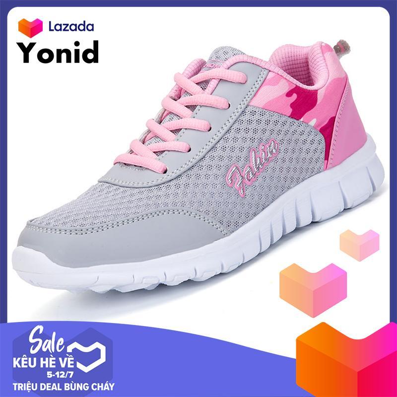 Yonid Giày Thể Thao Nam Nữ Giày Chạy Bộ Thoáng Khí Siêu Nhẹ Êm Chân Nhật Bản