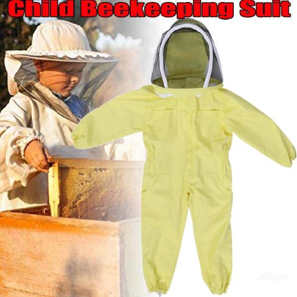 Bộ đồ nuôi ong trẻ em Quần áo thoáng khí Quần lót chống ong Trang trại Bảo vệ du khách 【Shop Vouchers】
