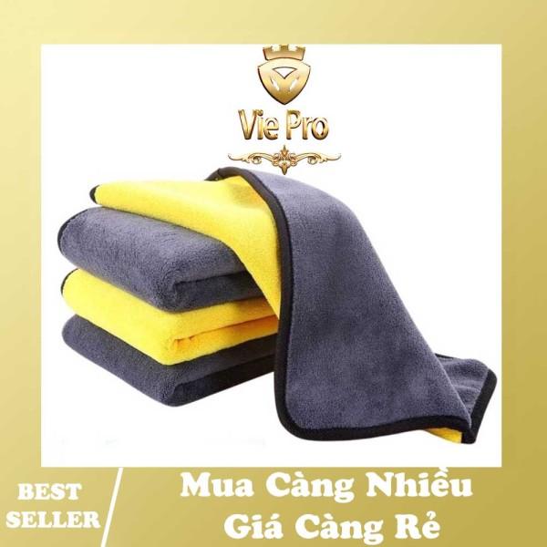 [FREESHIP 20k đơn 49k] Khăn lau đa năng 2 lớp lau kính xe hơi ô tô chuyên dụng chất liệu Microfiber siêu thấm không bám lông - Vie Pro