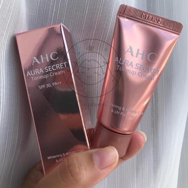 Kem dưỡng da trắng hồng, căng bóng AHC Aura Secret Tone Up Cream 10ml