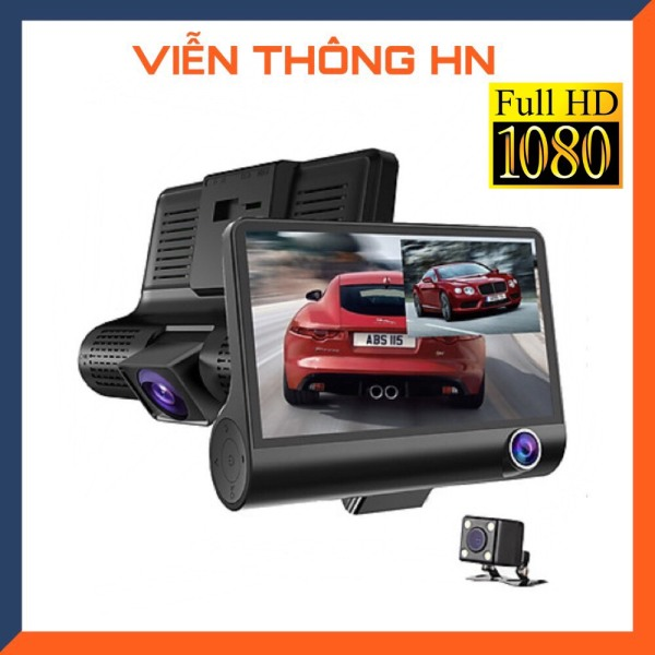 [1 BỘ 3 CAMERA] Camera hành trình ô tô 3 mắt camera full hd 1080 camera oto sau chống nước  camera trong xe trống chộm  ghi hình khi tắt máy  tự động ghi hình nếu phát hiện chuyển động